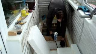 видео Как поднять пол на балконе или лоджии своими руками