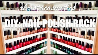 Diy: Nail Polish Rack | Xkristacosmetics