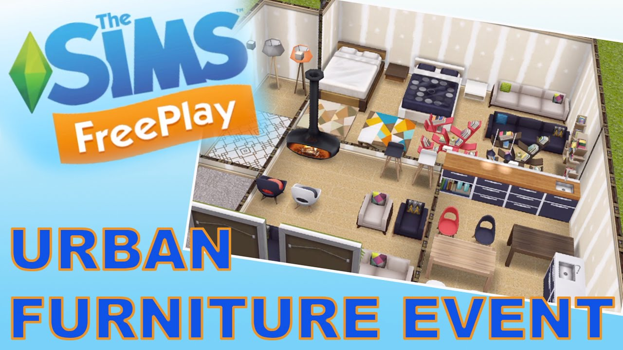 Sims Freeplay Urban Furniture Event Youtube
