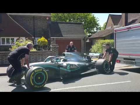 Lewis Hamilton Surprises Terminally Ill Kid With F1 Race Car