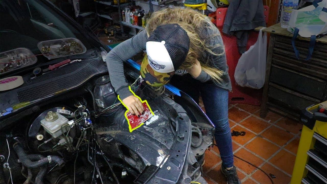 Empezando la preparación del vano motor