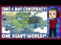 Sims 4 - ONE GIANT WORLD?! (Conspiracy Theory)