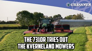 DonkeyCam - The 7310R tries out the Kverneland mowers