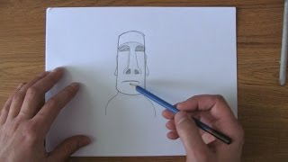How To Draw An Easter Island Statue (Easy)