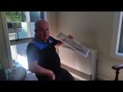 How to clean the filter on a Rinnai Energysaver Gas Heater