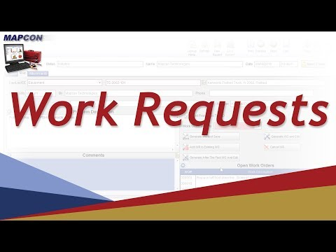 Work Requests -MAPCON CMMS