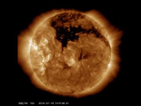 Se forma en el Sol un gigantesco agujero coronal