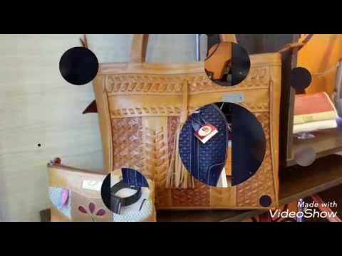 03a3c3561 Articulos En Cuero Para Dama Y Caballero - YouTube