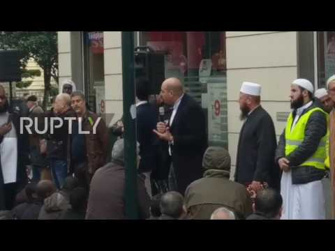 France: Muslims pray on streets of Paris in protest against Mosque closure