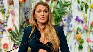 Blake Lively Gives Emotional Speech on Child Pornography