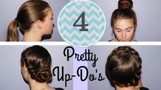 4 Quick, Easy, Pretty Hair Styles for Long Hair