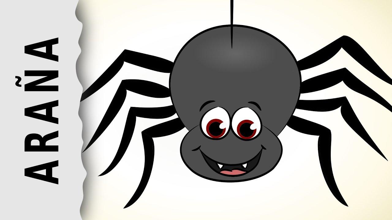 Arañas De Halloween Para Colorear: Aranas Para Colorear Y Recortar