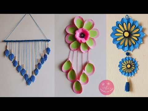 3 NEW EASY PAPER WALL HANGING/DECORS   BEAUTIFUL CRAFT GIFT IDEA   BEST FROM WASTE