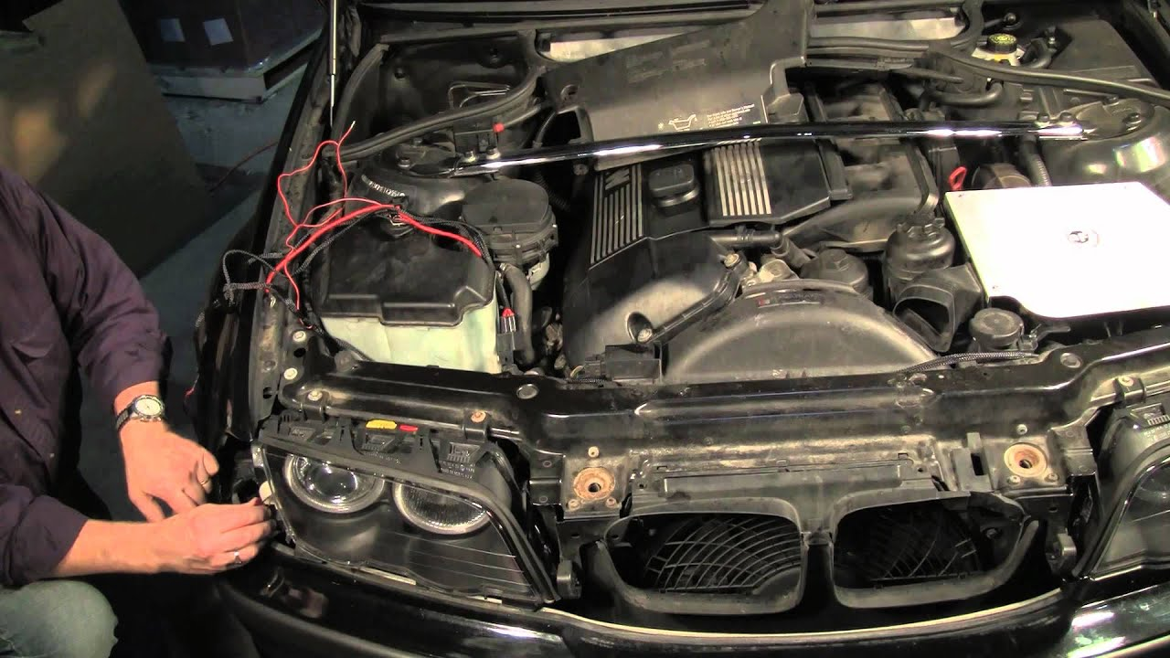 2006 Bmw Wiring Diagram Bmw Headlight Replacement And Angel Eyes Upgrade Part 2