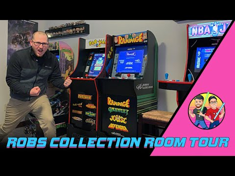 Arcade 1UP Collection Room Tour! from The Jedi Knights Watch