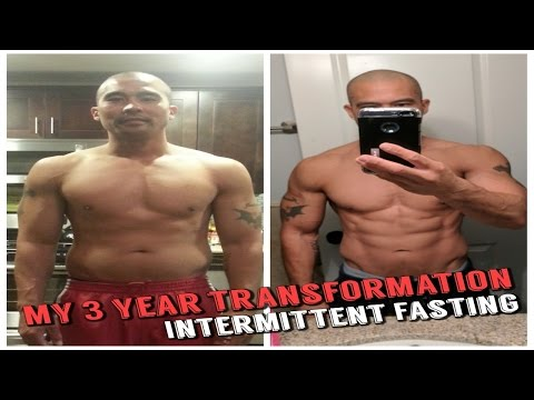 3 Year Body Transformation - Kinobody Review Warrior Shredding Program  - Intermittent Fasting (skip to 8s)