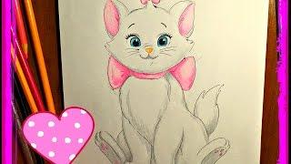 Как нарисовать котёнка АРИСТОКРАТ. How to draw kitten.(, 2016-09-20T06:42:00.000Z)