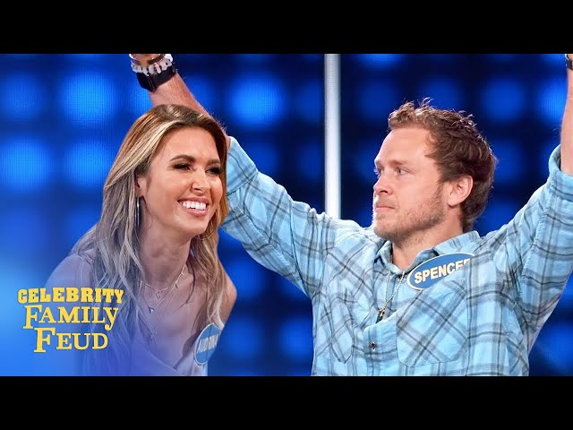 Fireworks on the Feud! Can The Hills win it? | Celebrity Family Feud