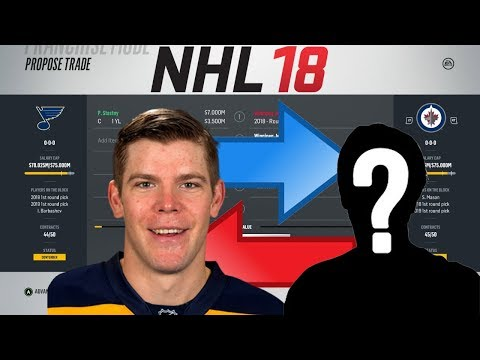NHL 18 - STASTNY TO WINNIPEG TRADE SIMULATION