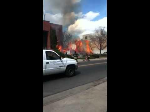 fire across kepner middle school