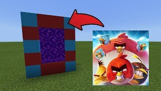 How To Make a Portal to the Angry Birds 2 Dimension in MCPE (Minecraft PE)