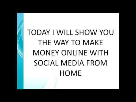 How to Make Money Online With Social Media Jobs From Home 2016