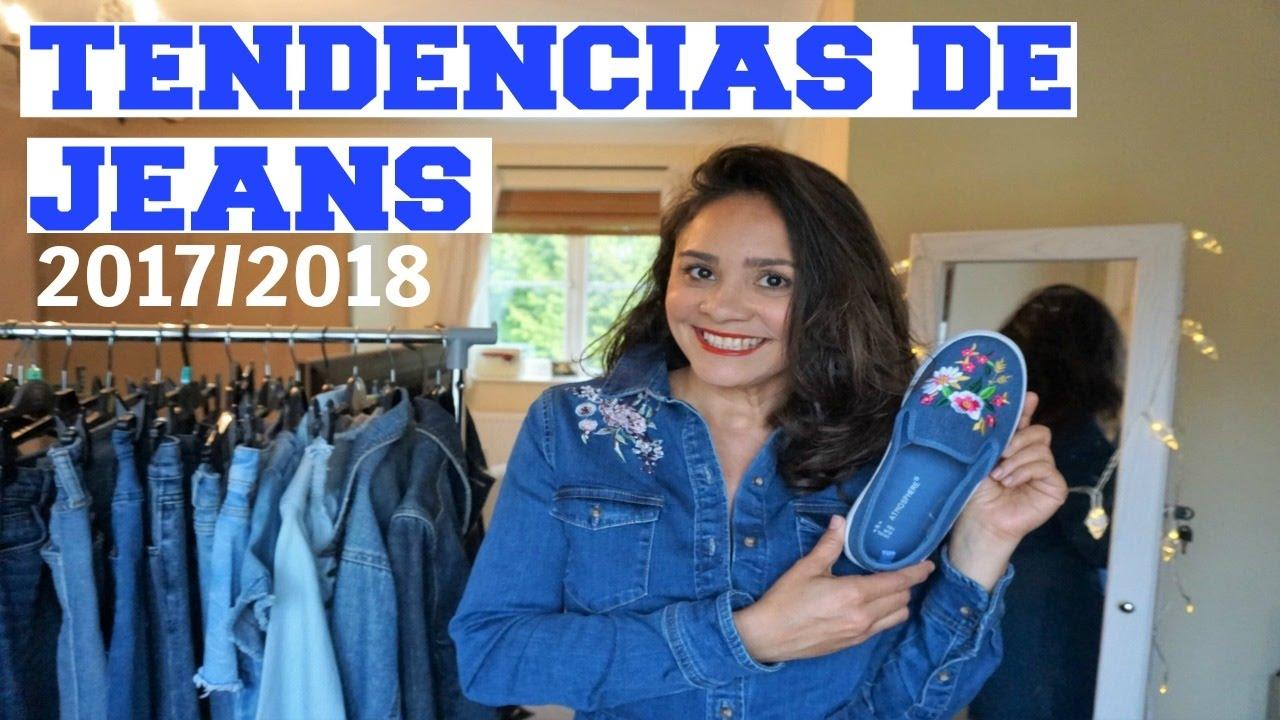 51033b62d TENDÊNCIAS DE JEANS 2017 2018 - DICAS DE MODA FEMININA - YouTube