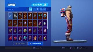 Showing all my skins in fortnite