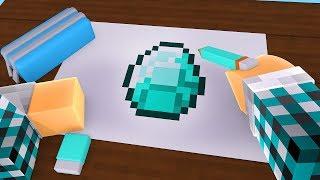 COLORINDO UM DIAMANTE MINECRAFT !! - [ Minecraft Desenho #5 ]