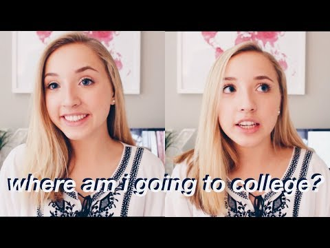 revealing where i'm going to college | an honest, emotional chat