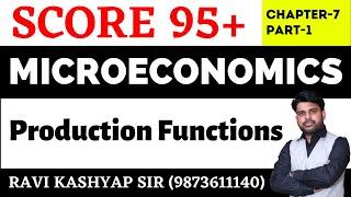 Production Functions ( Part-1), Microeconomics,