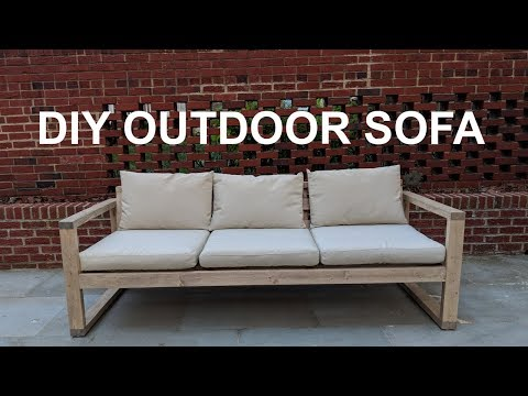DIY Cheap Modern Outdoor Sofa | NATHAN BUILDS