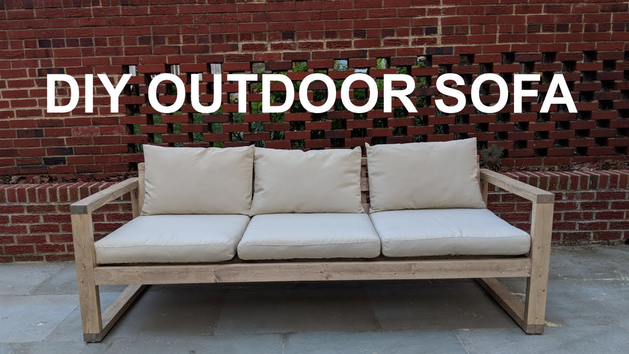 Charmant DIY Cheap Modern Outdoor Sofa | NATHAN BUILDS