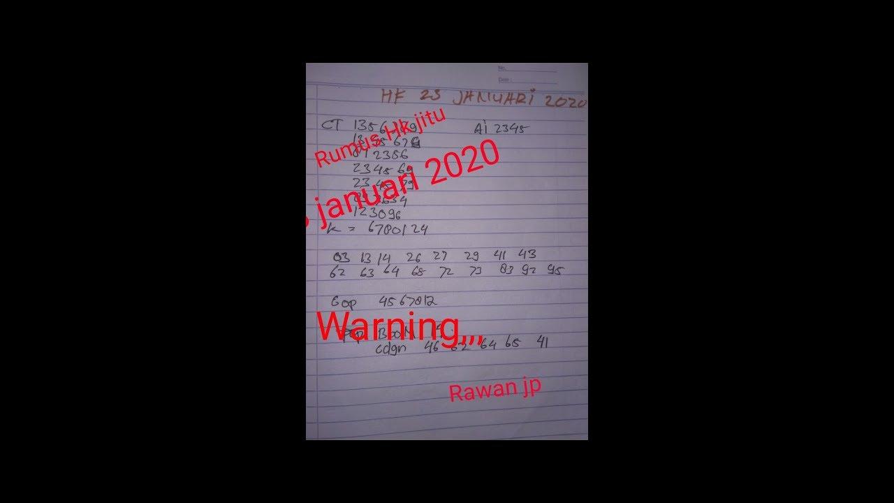 RUMUS JITU HK 23 JANUARI 2020 || AUTO JP - YouTube