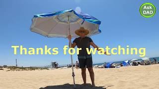 How do you install Tommy Bahama beach umbrella?