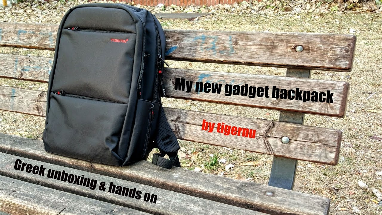 034a1be0b7 My new Gadget Backpack by tigernu   unboxing   hands on  Greek ...