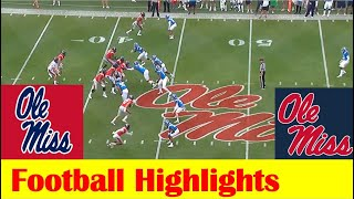 Blue Team vs Red Team, 2021 Ole Miss Football Spring Game Highlights, 2021 Grove Bowl