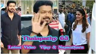 Latest Video Thalapathy 63  Vijay and Nayanthara Mass Entry of Shooting Spot | Atlee | A R Rahman