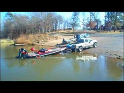 Leaving the jet boat in water near millwood lake youtube for Millwood lake fishing report
