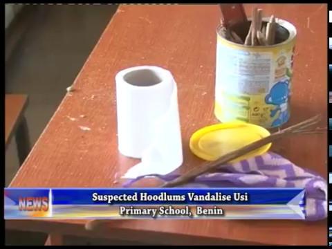 Suspected hoodlums vadalise Usi Primary School, Benin
