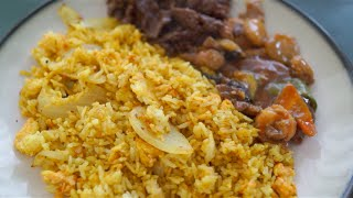 Vietnamese Food - Tu Lan (San Francisco) Style Curry Fried Rice Recipe (Macro HD ASMR)