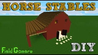 Minecraft Tutorial: How To Make Horse Stables (Barn)