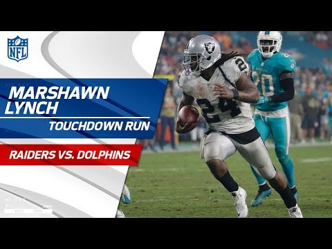 Marshawn Lynch Leads Oakland Downfield for TD to Extend Lead!   Raiders vs. Dolphins   NFL Wk 9