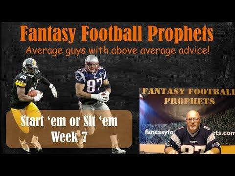 Start 'em or sit 'em week 7 Fantasy Football