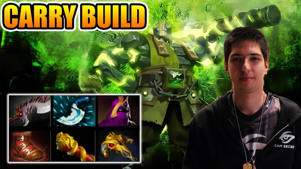 w33 dota 2 earth spirit carry build earth spirit safe lane youtube