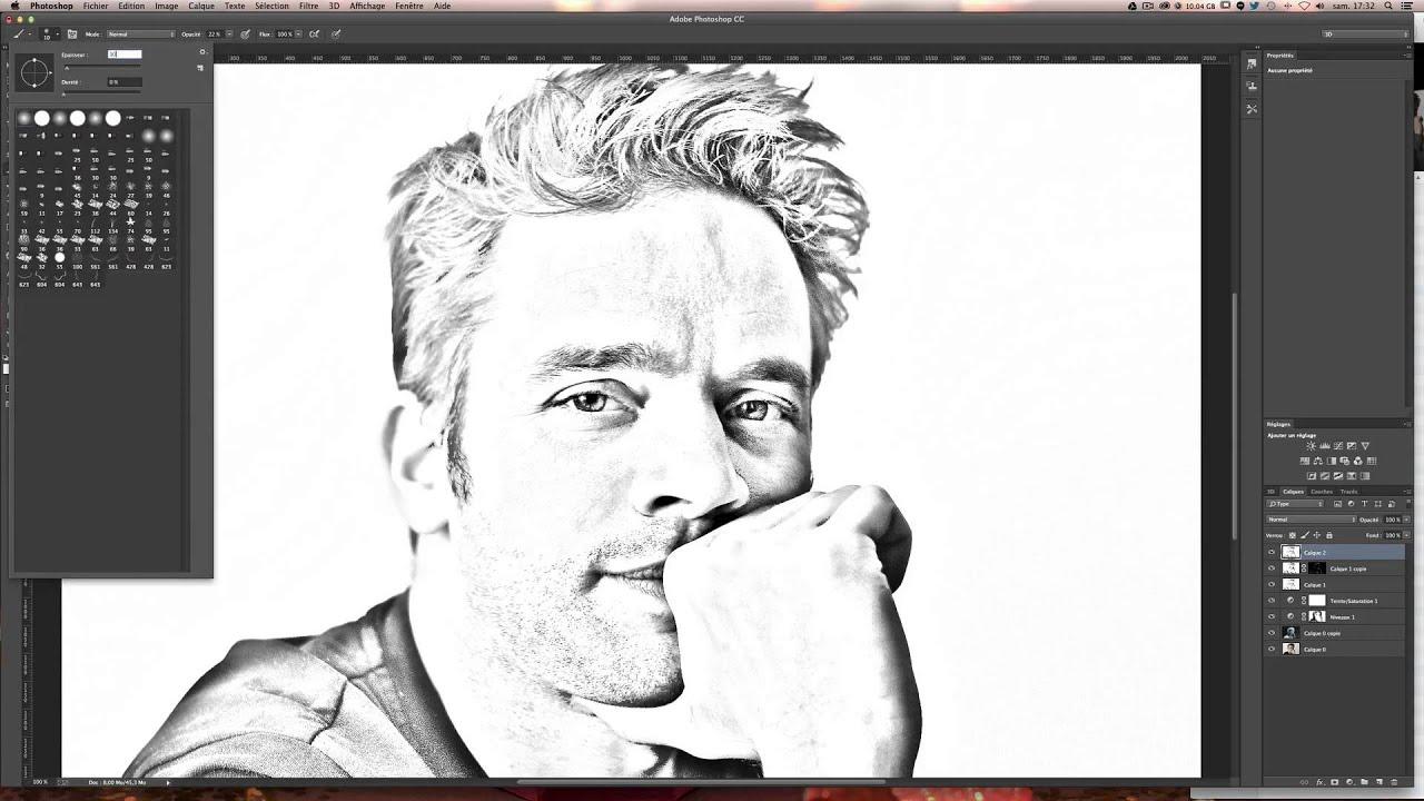 transformer une photo en dessin effet crayon papier tuto photoshop gratuit en fran ais. Black Bedroom Furniture Sets. Home Design Ideas