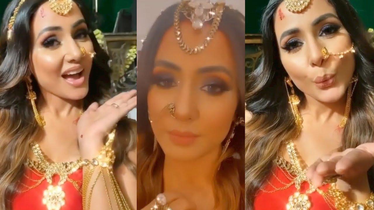 Hina Khan Looks Gorgeous || Naagin 5 BEHIND THE SCENE || Instagram