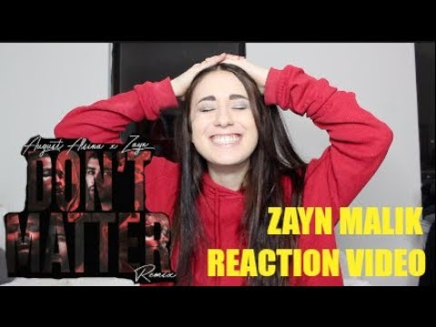 THE HAPPIEST REACTION TO ZAYN'S NEW REMIX | DON'T MATTER W/ AUGUST ALSINA