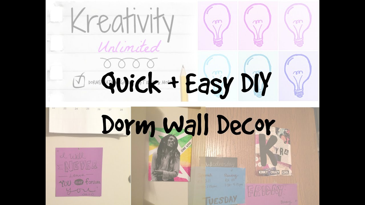 Diy Wall Art Dorm : Quick easy diy dorm wall decor