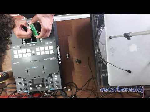 Mantenimiento y reparación crossfader mixer rane 72 - Clean and lubricate rane 72